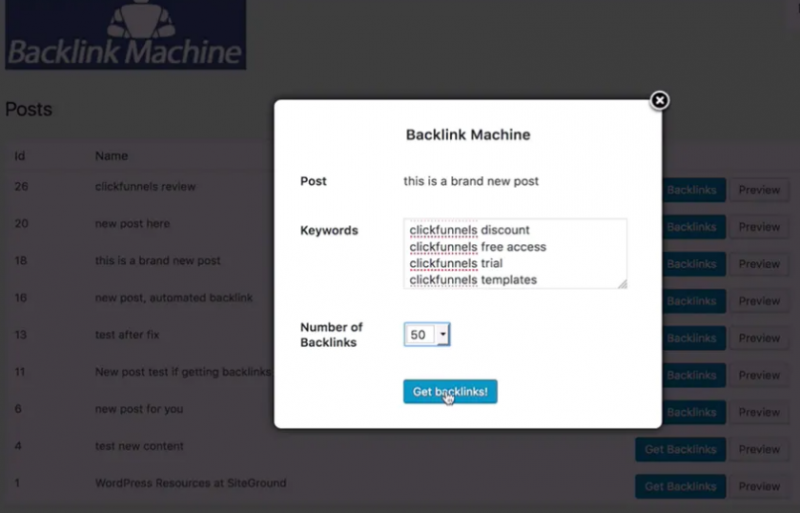 WP Backlink Machine