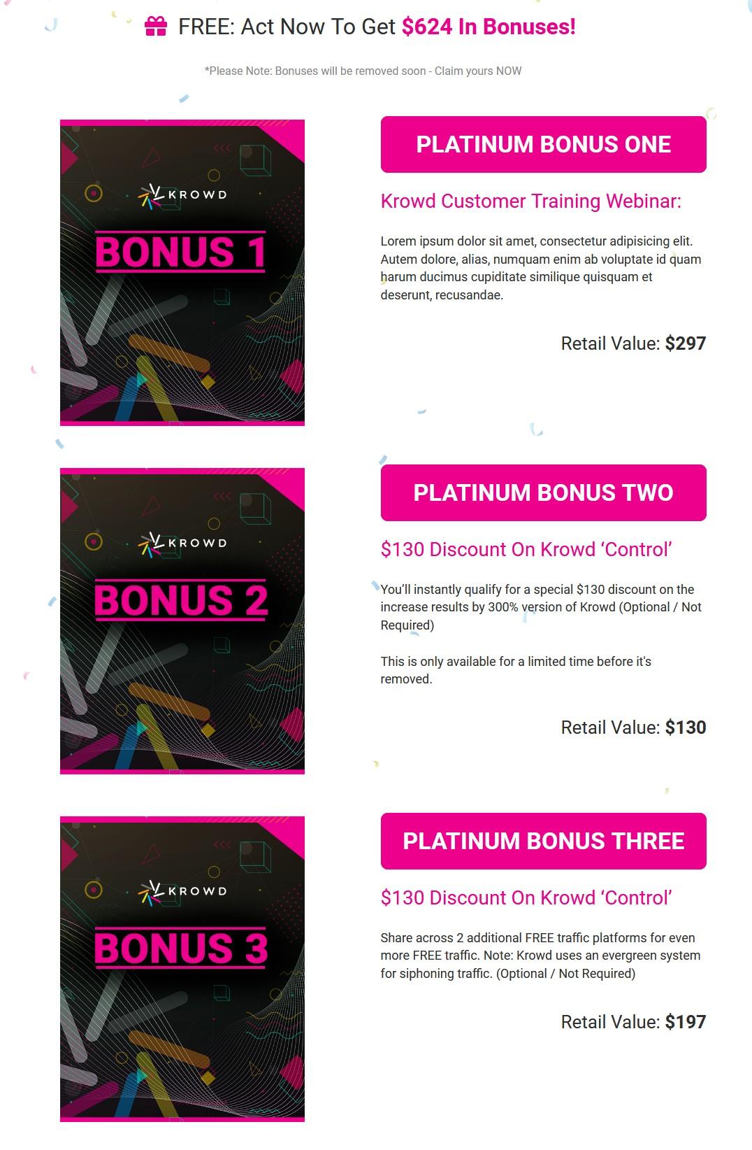 Krowd-bonus