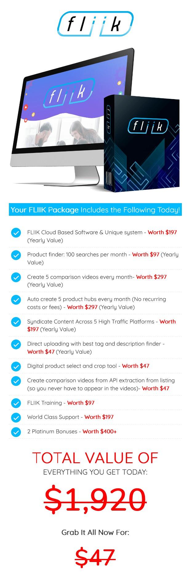 FLIIK-price
