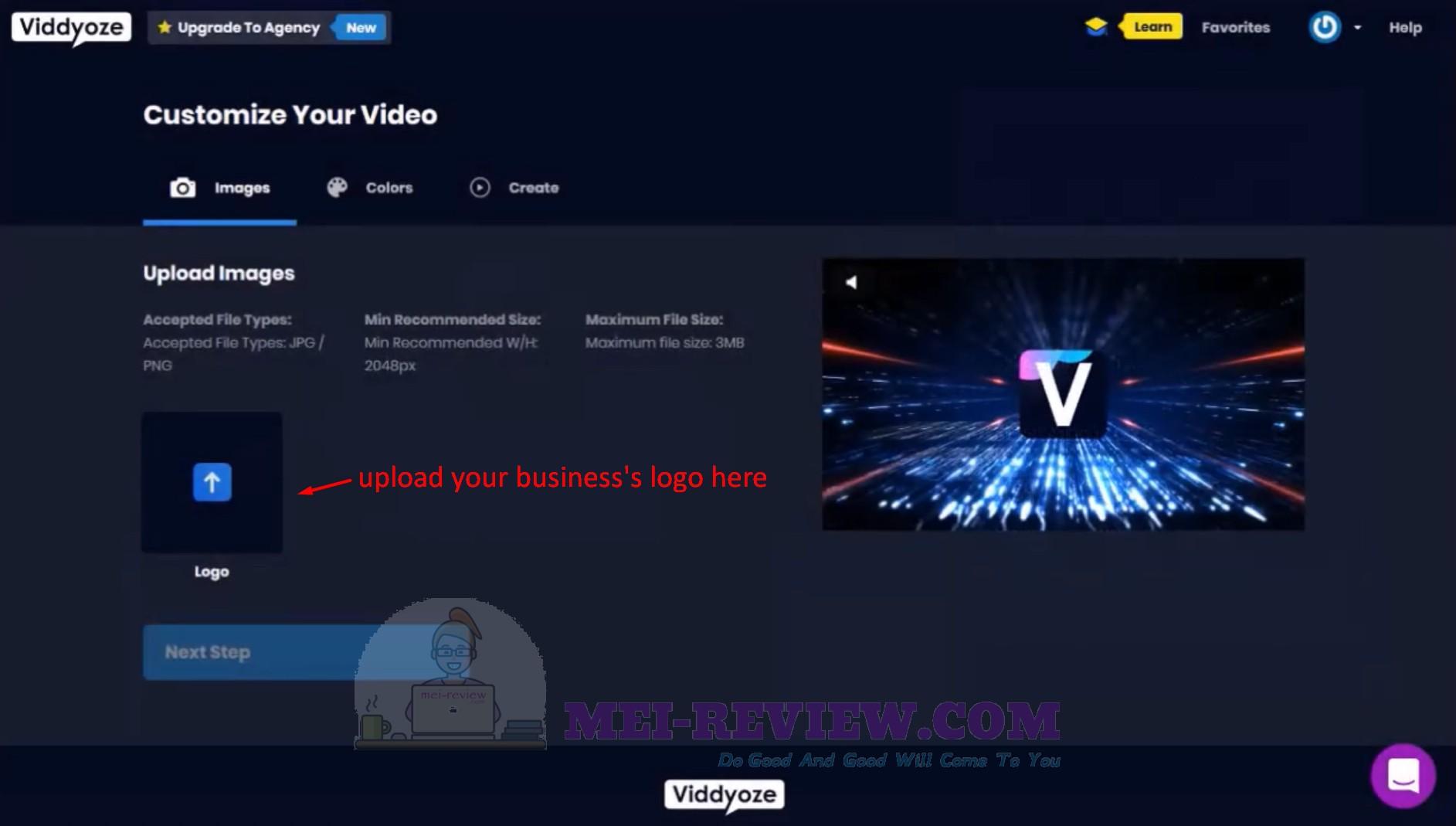 Viddyoze-Step-5-upload-logo