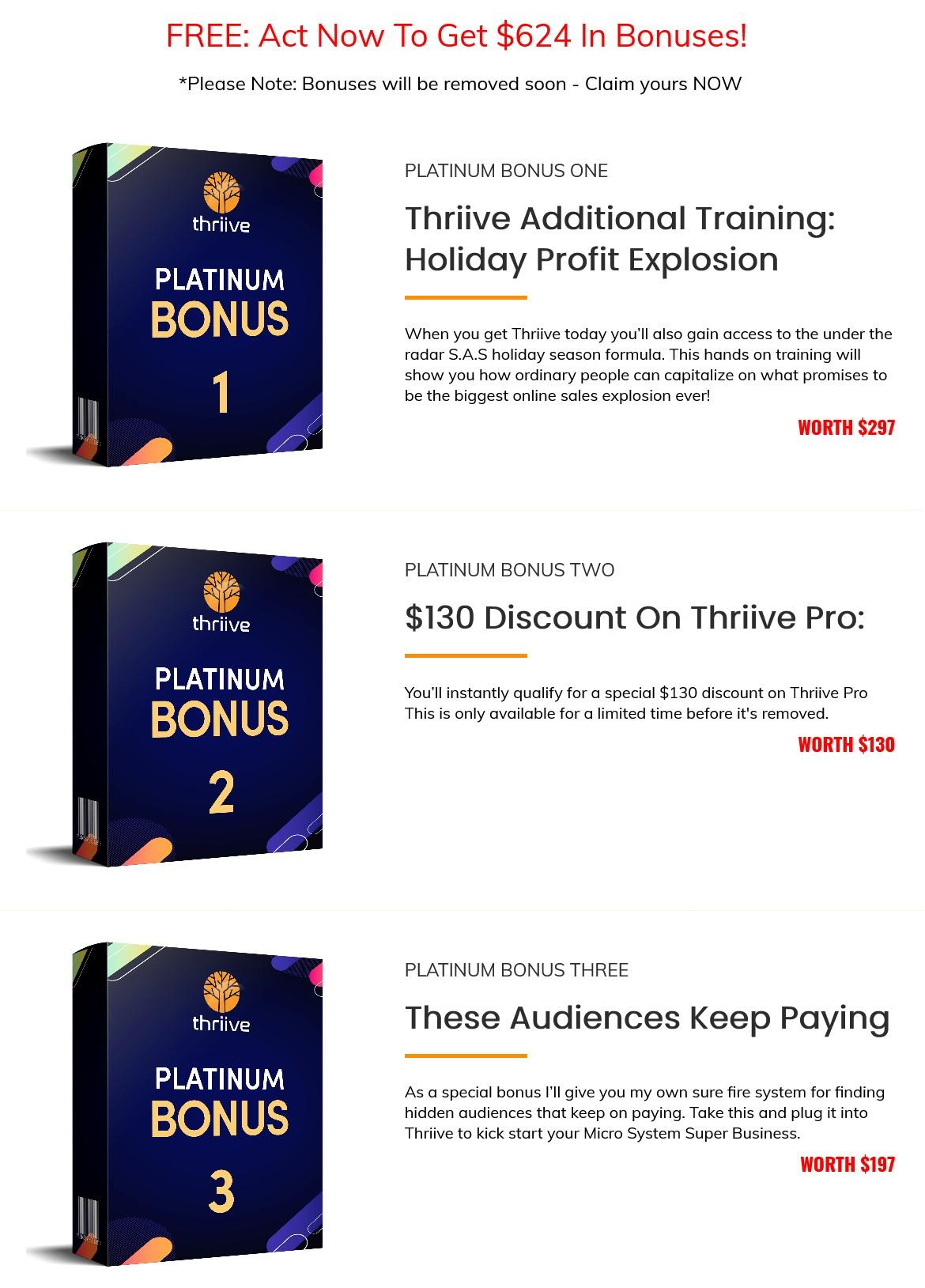 Thriive-bonus
