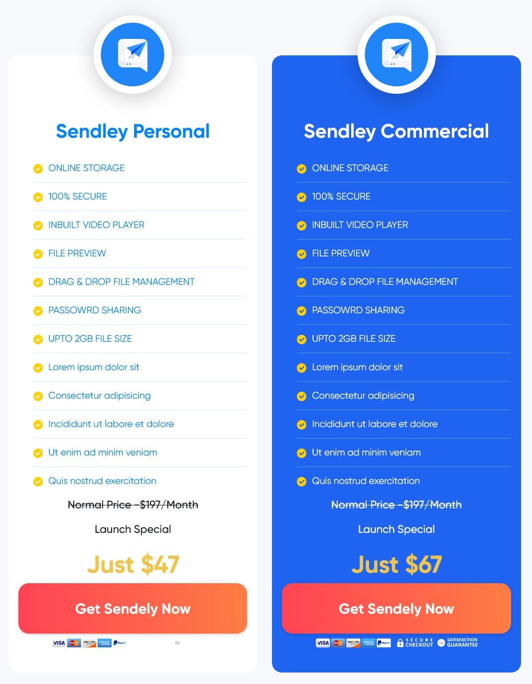 Sendley-price