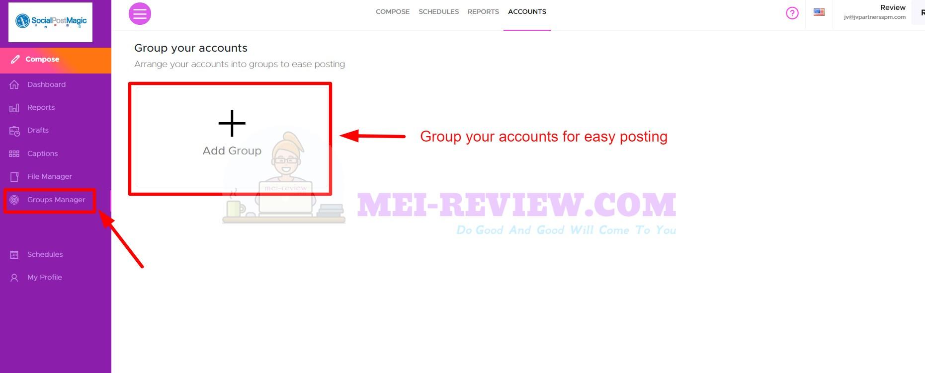 Social-Post-Magic-Step-3-group-account
