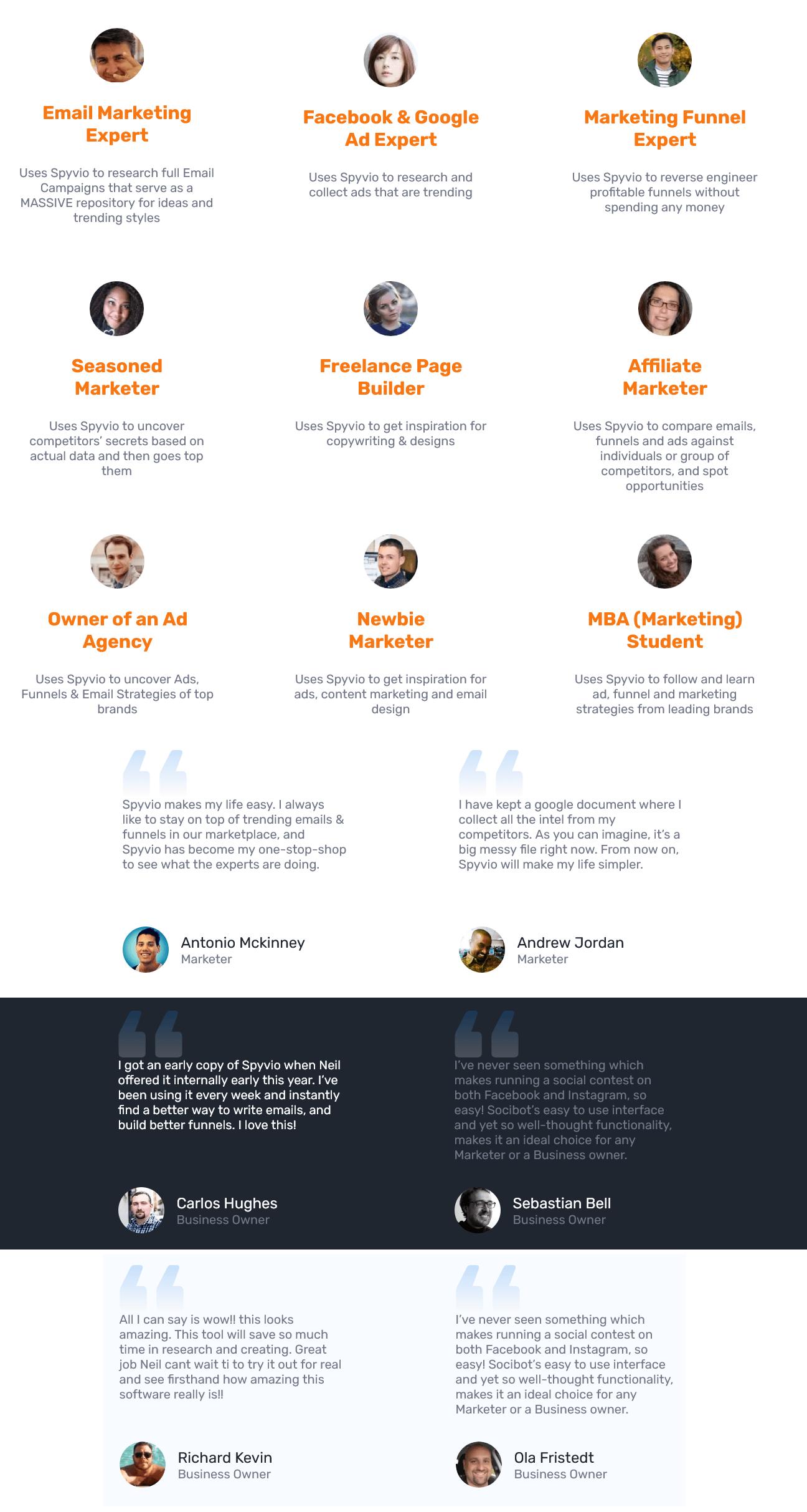 Spyvio-feedback