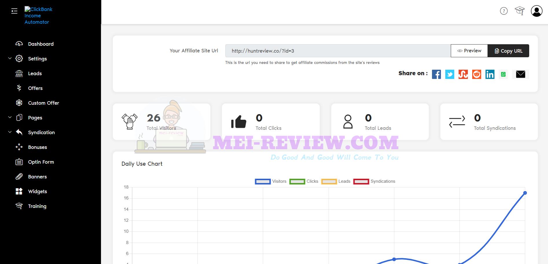 Clickbank-income-automator-step-1-dashboard