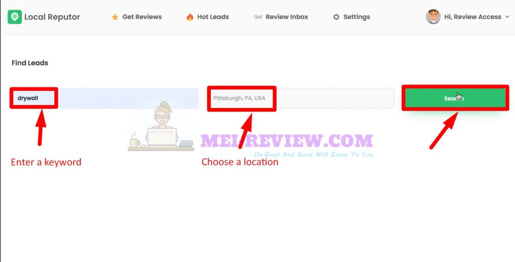LocalReputor-Demo-14-search-leads