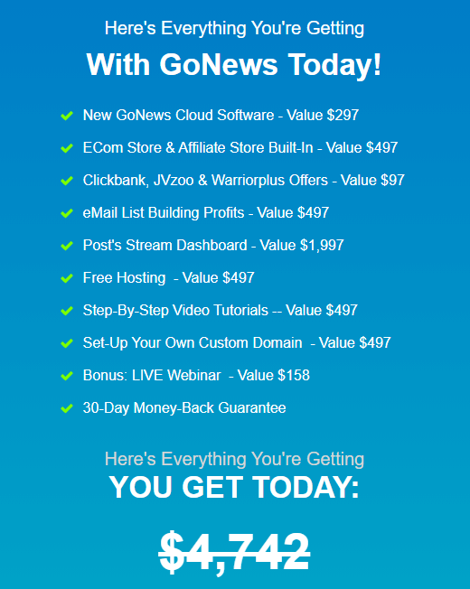 GoNews-price