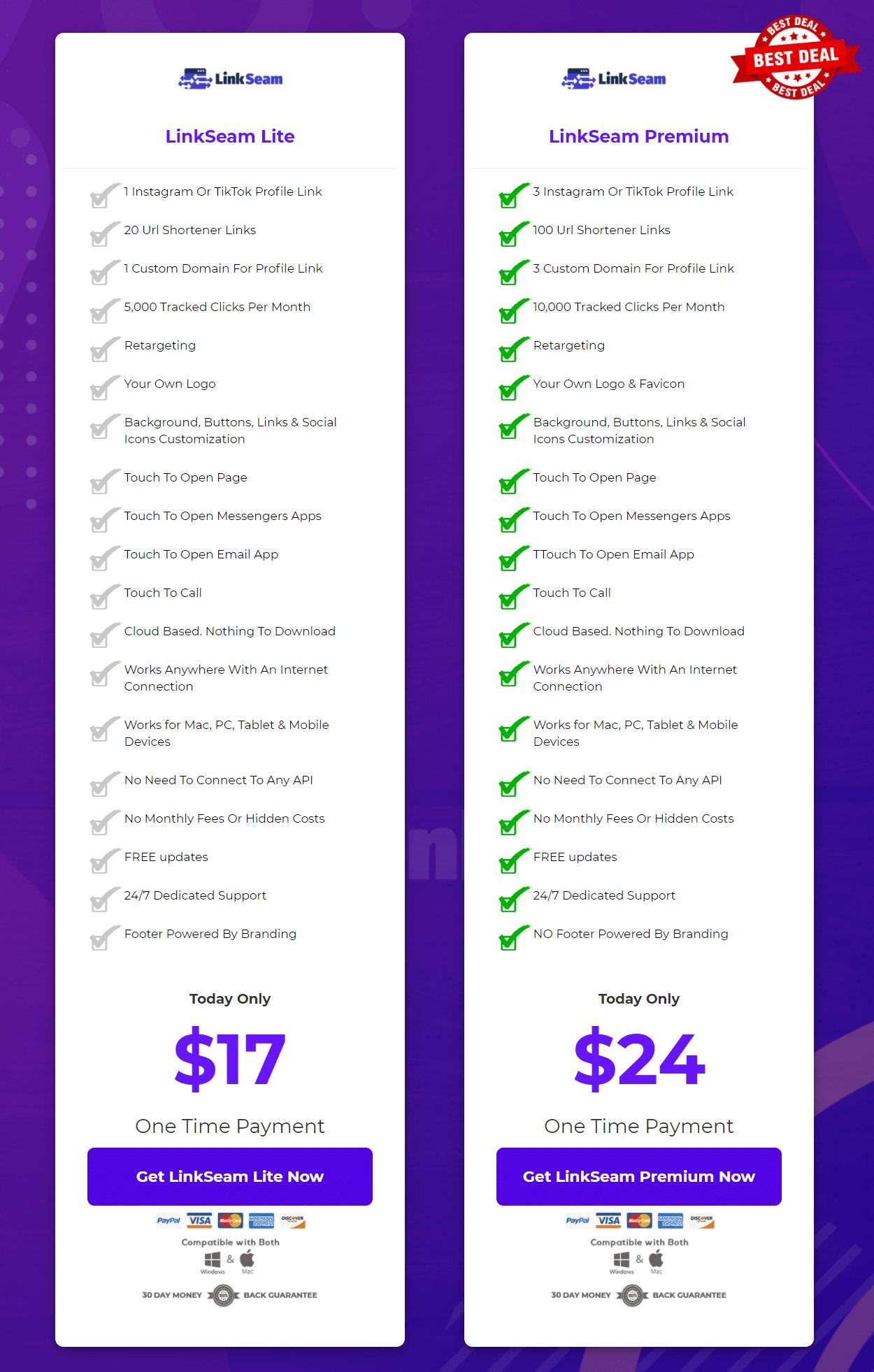LinkSeam-price