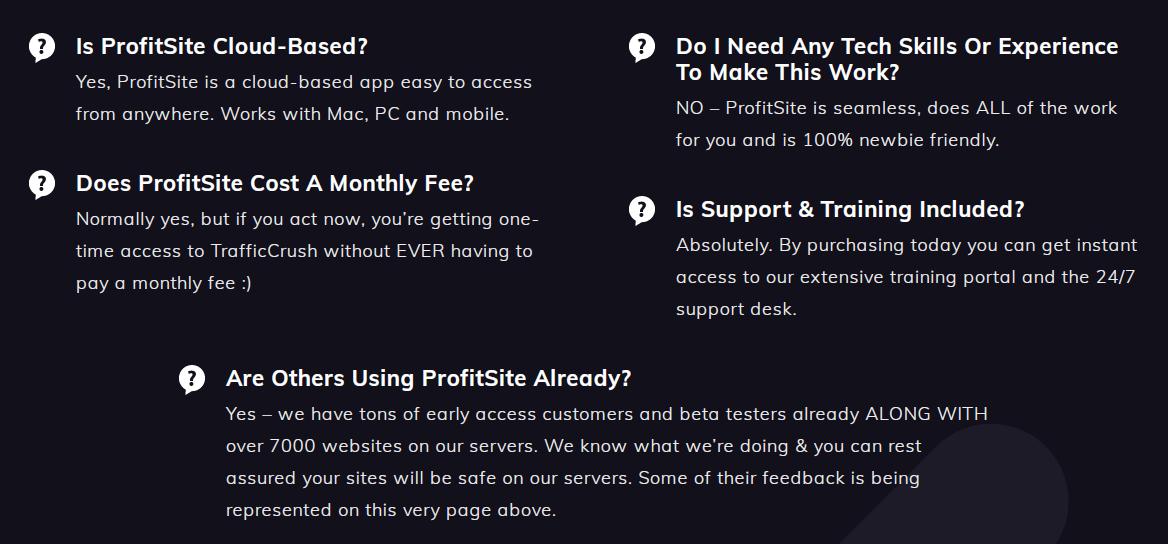 ProfitSite-faq