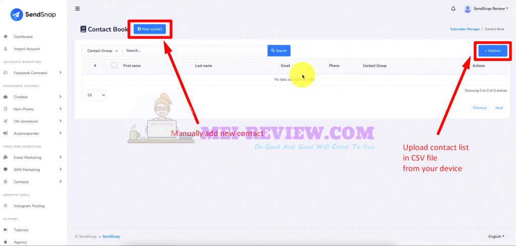 SendSnap-Demo-7-add-contacts