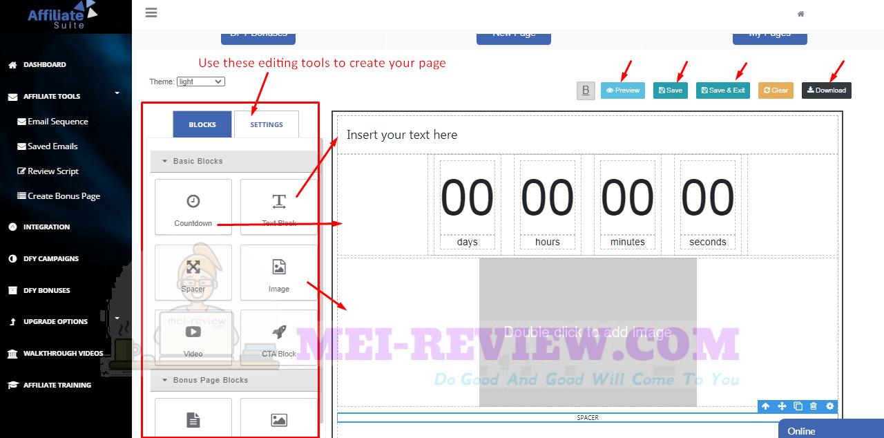 AffiliateSuite-demo-14-page-customization
