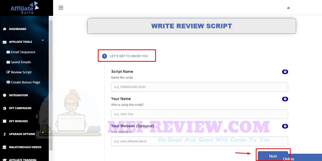 AffiliateSuite-demo-20-write-review-script