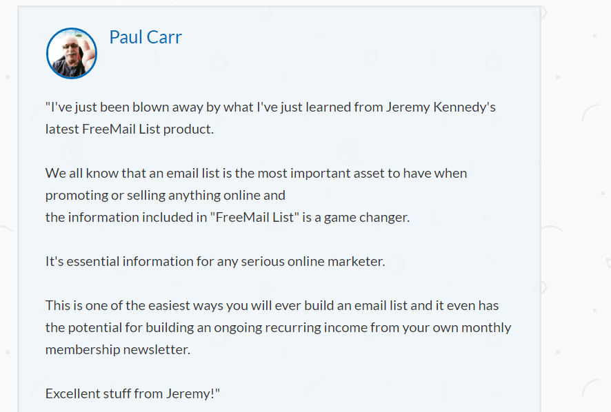 FreeMail-List-Feedback-From-Paul-Carr