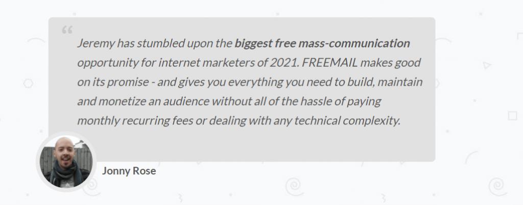 FreeMail-List-Feedback-From-Jonny-Rose