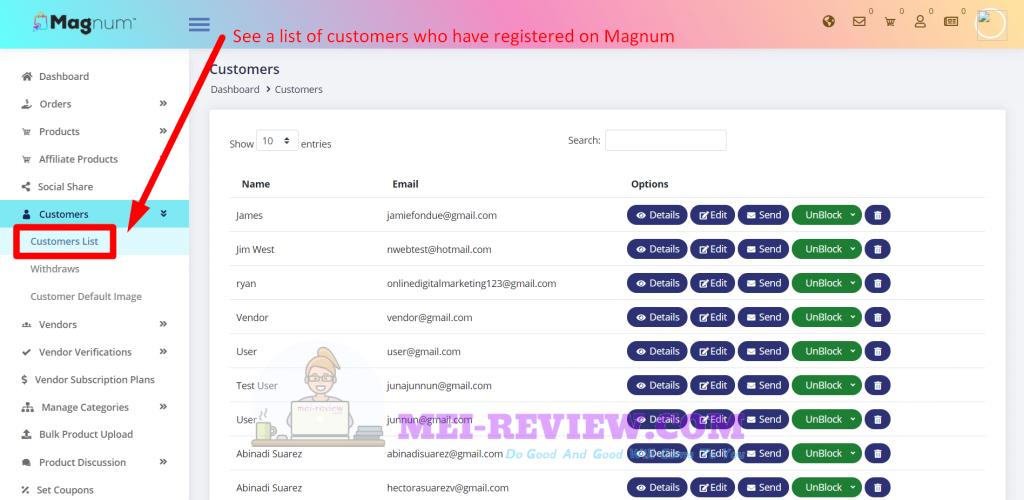 Magnum-demo-13-customers-list