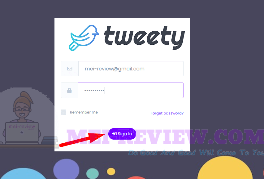 Tweety-Demo-1-login
