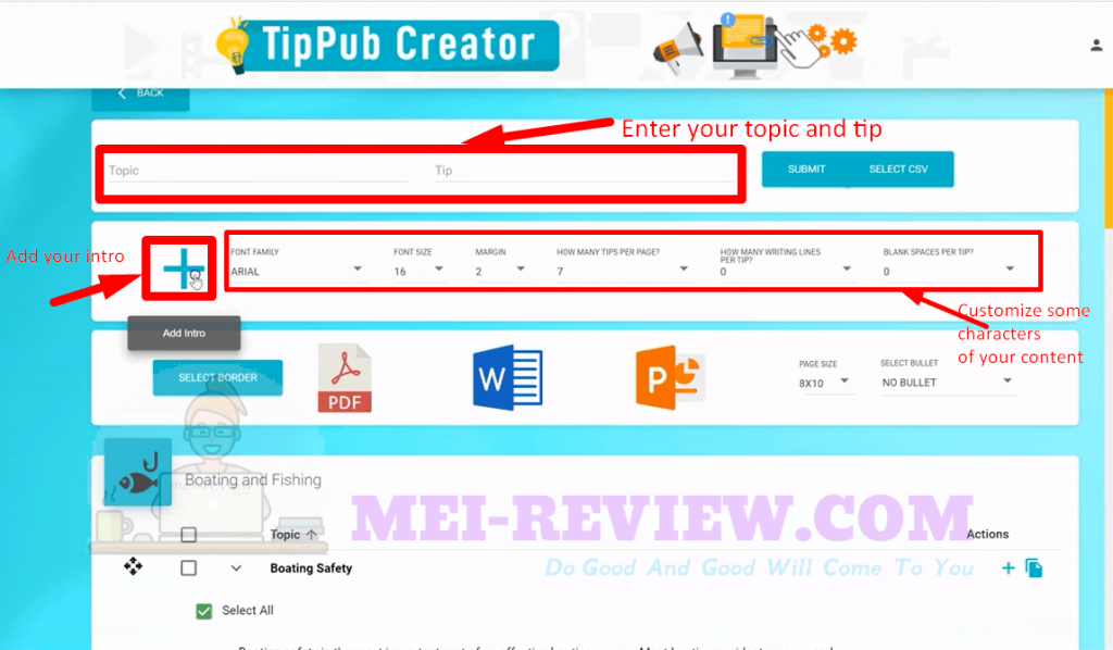 TipPub-Creator-Demo-7-customize-the-page