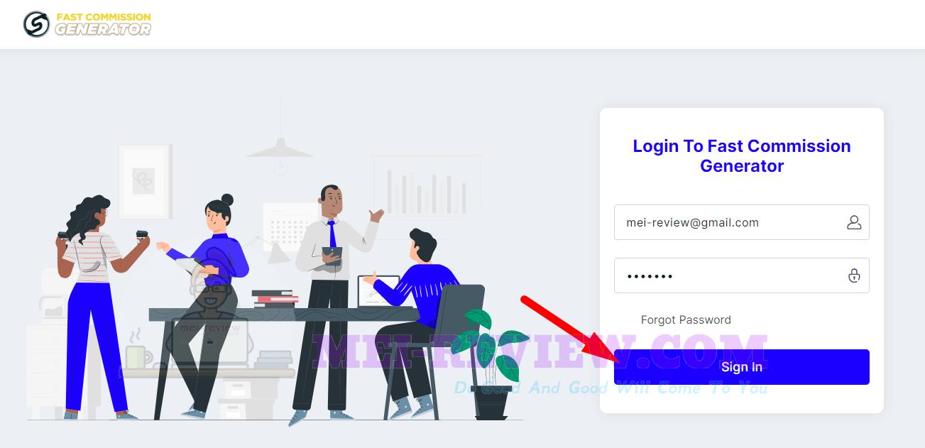 Fast-Commission-Generator-Demo-1-login