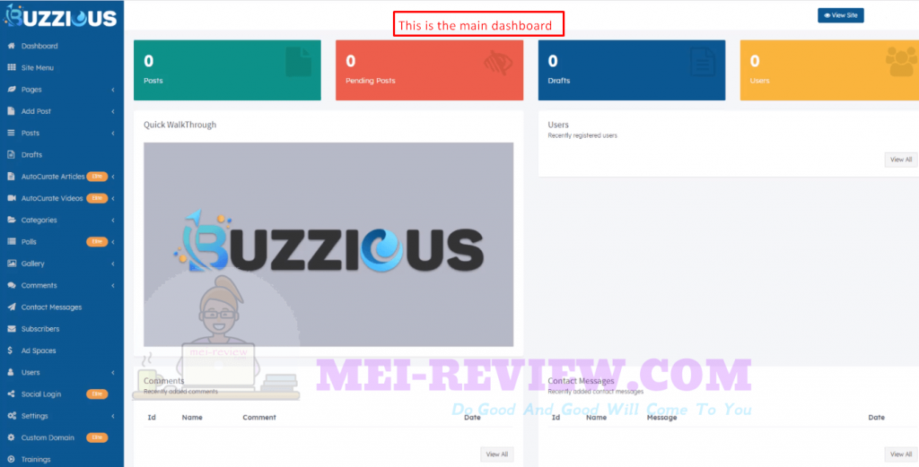 Buzzious-main-dashboard