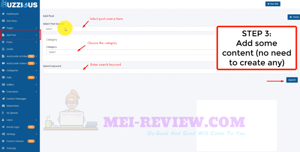 Buzzious-demo-7-curate-post