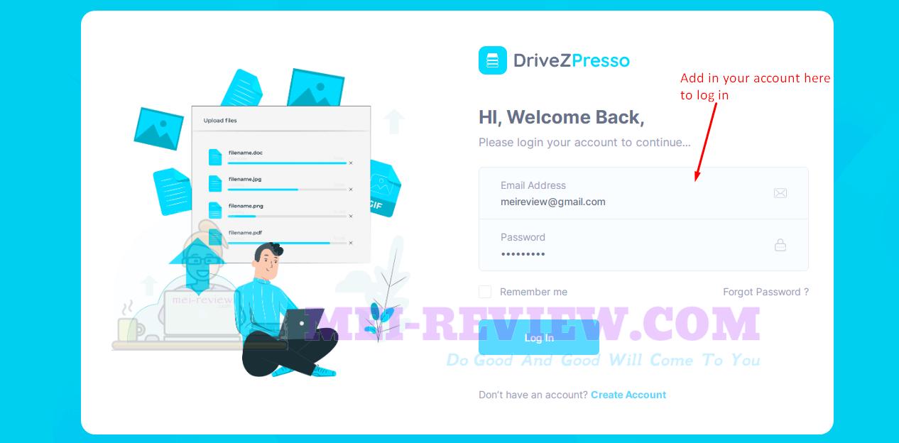 DriveZPresso-Demo-1-Login