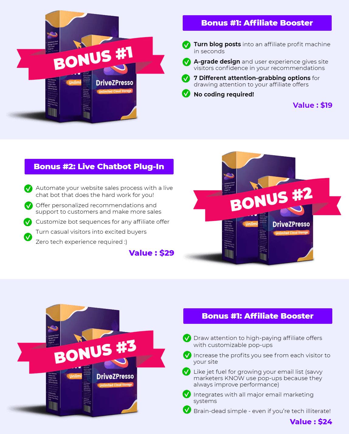 DriveZPresso-bonus
