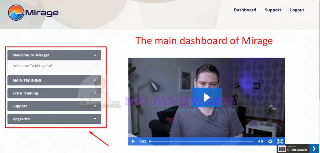 Mirage-software-dashboard