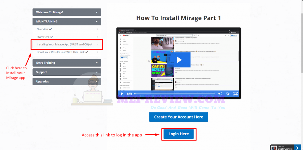 Install-Mirage-software