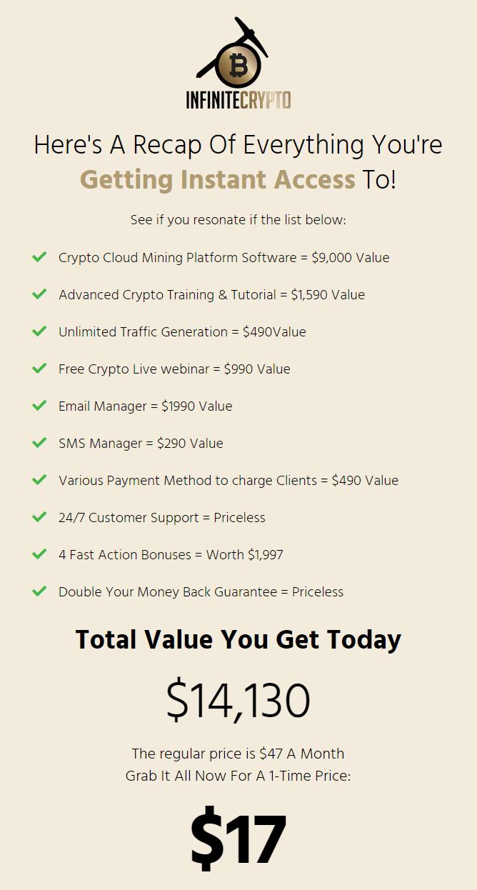 Infinite-Crypto-price