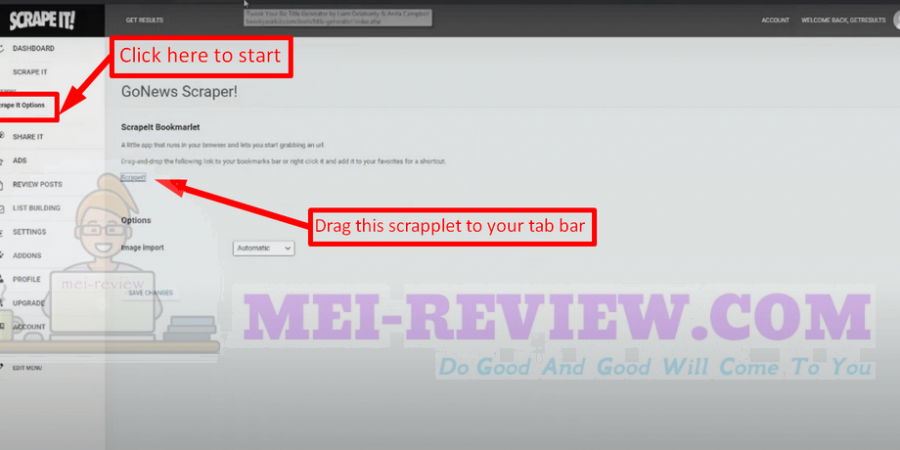 ScrapeIt-demo-2-In-order-to-create-a-new-review-website-go-to-ScrapeIt-Option-you-will-see-a-tiny-Scrapelt-which-you-will-afterward-drag-and-drop-it-to-your-tab-bar