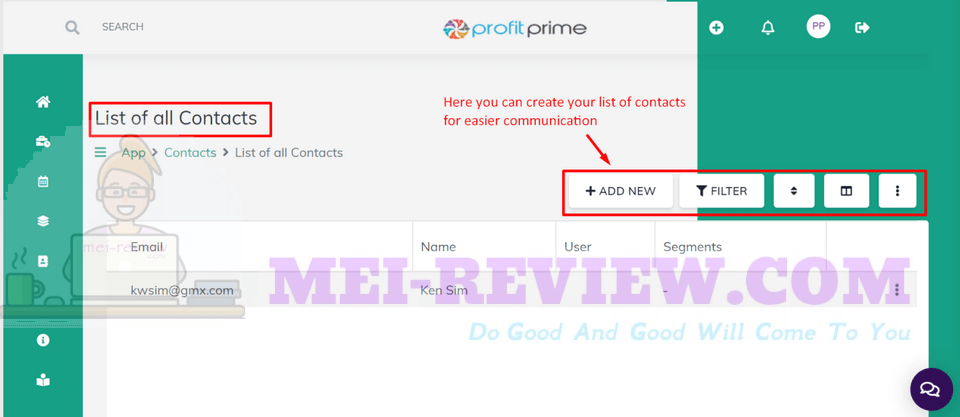 ProfitPrime-demo-8-Contacts