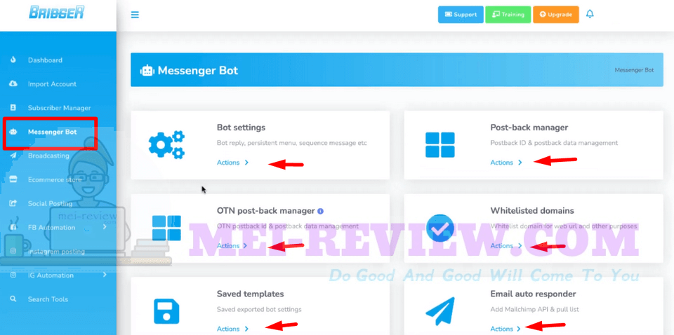 Bridger-software-demo-5-Messenger-Bot
