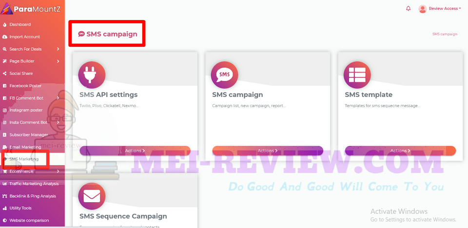 ParaMountZ-demo-10-SMS-campaign