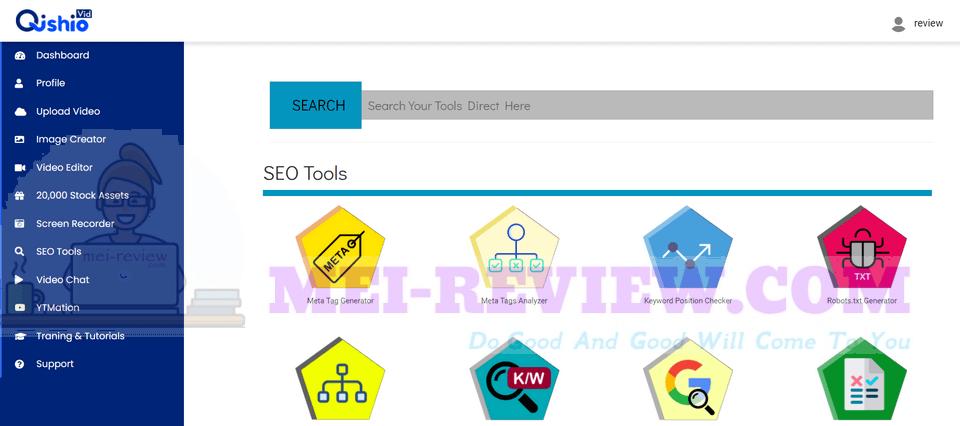QishioVid-demo-15-Many-SEO-Tools-Inside