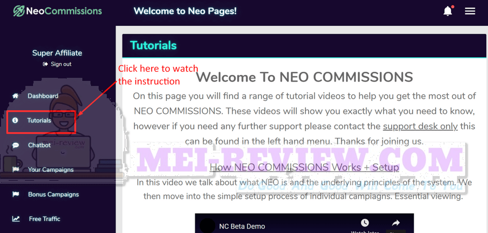 NEO-Commissions-demo-2-tutorial