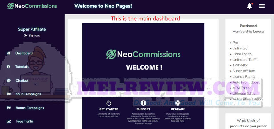 NEO-Commissions-demo-1-login