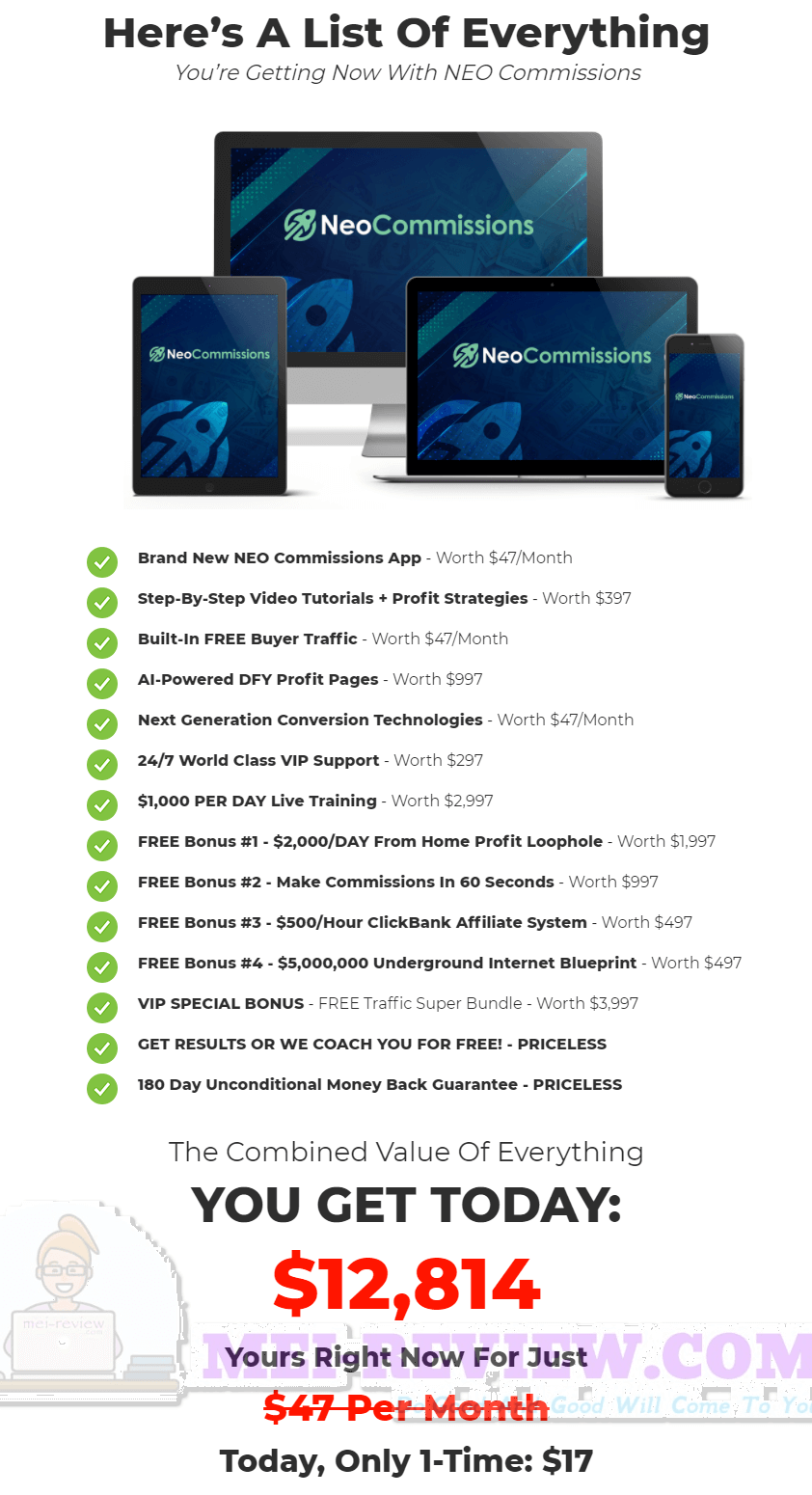 NEO-Commissions-price