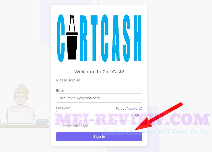 CartCash-demo-1-login