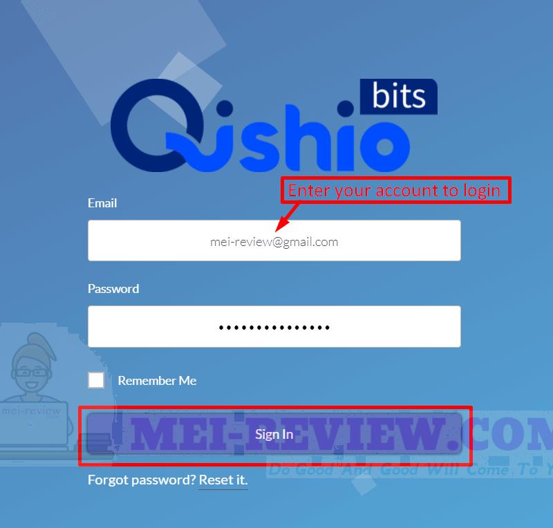 QishioBits-demo-1-login