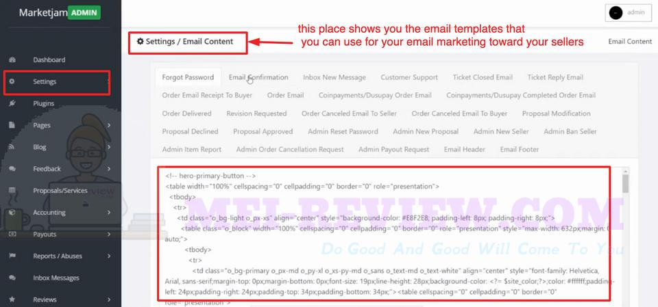 MarketJam-demo-7-Email-serving-setting