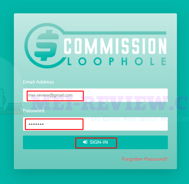 Commission-Loophole-Demo-1-login