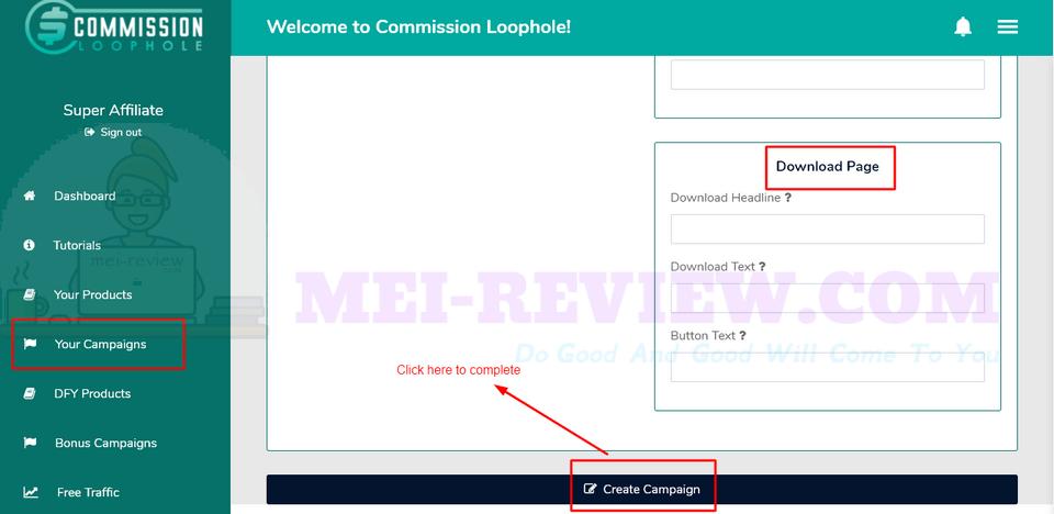 Commission-Loophole-Demo-6-complete-campaign-details