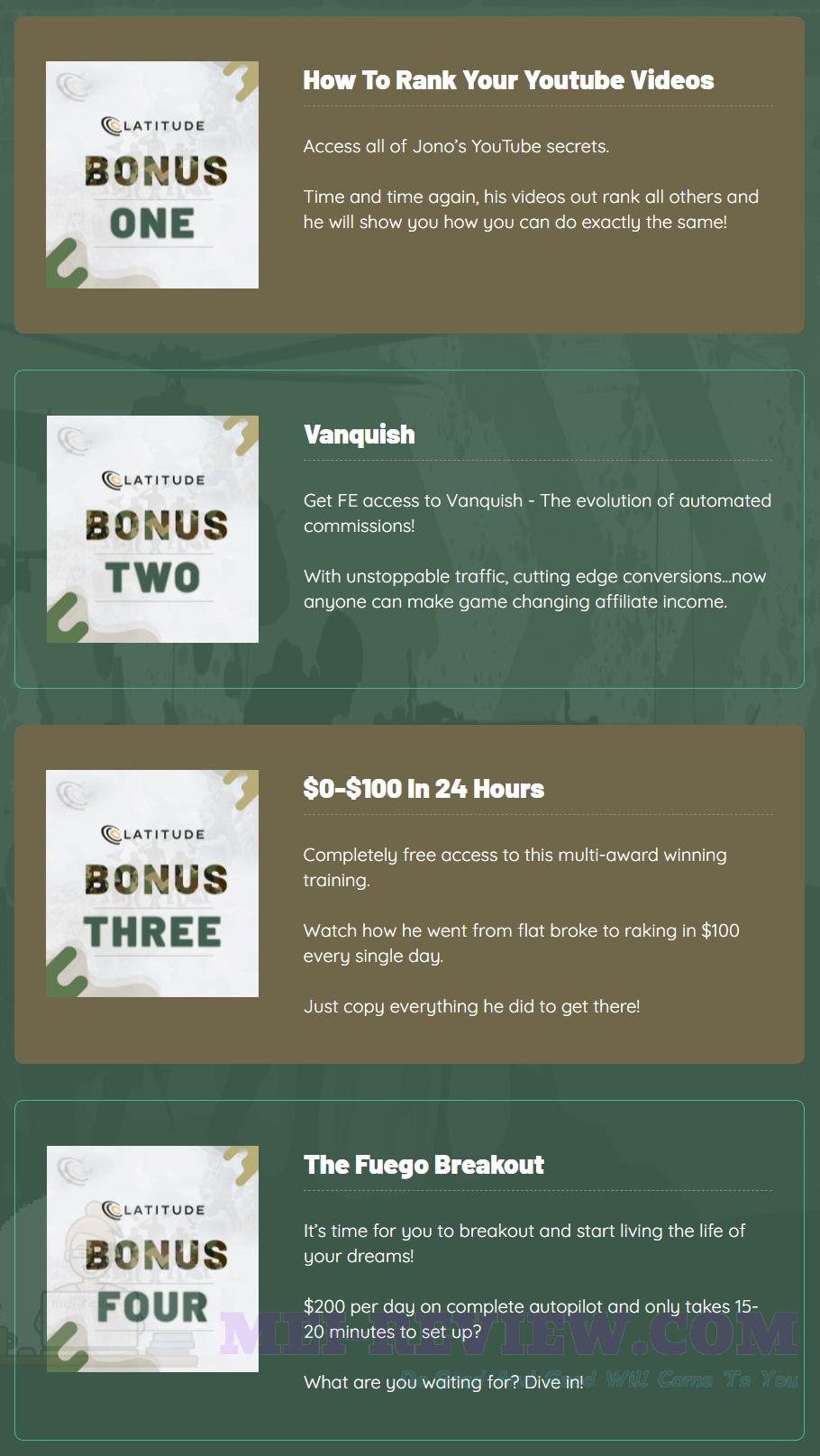 Latitude-bonus