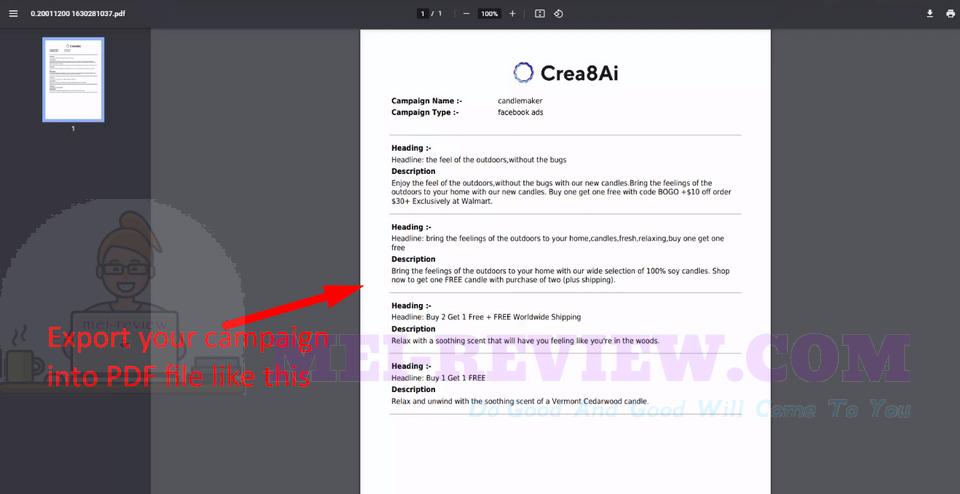 Crea8AI-demo-7-Export-your-campaign
