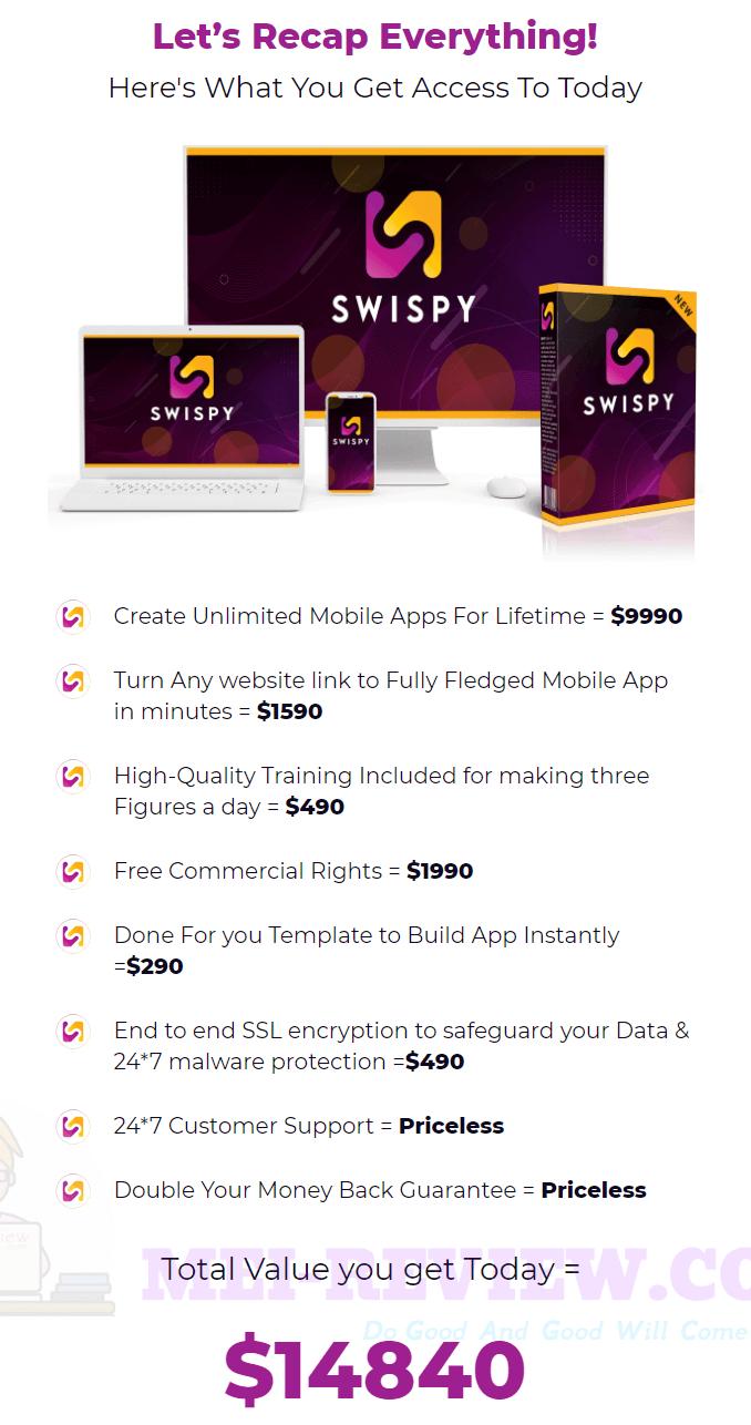 Swispy-price
