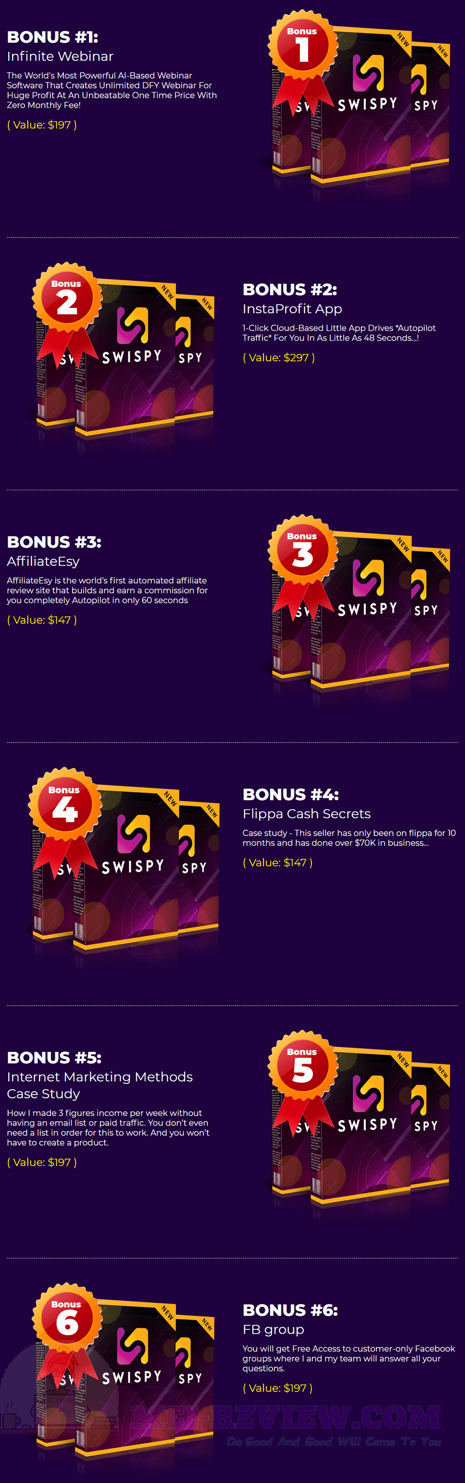 Swispy-bonus