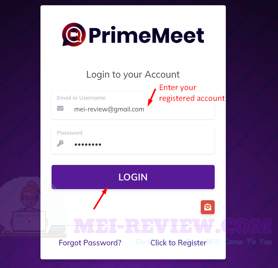 PrimeMeet-demo-1-login