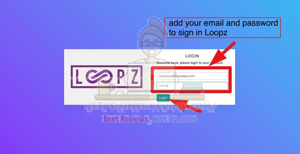 Loopz-demo-1-login
