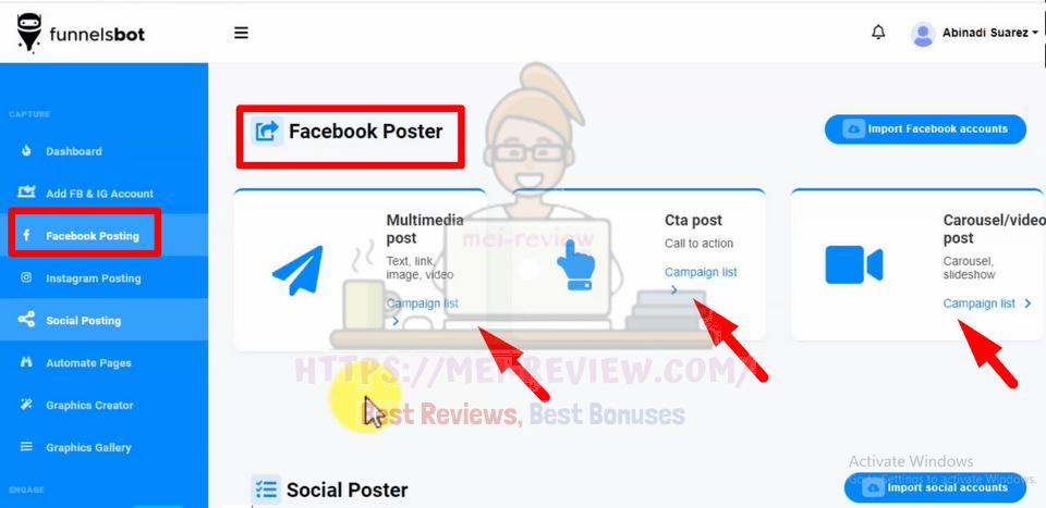 FunnelsBot-demo-2-Facebook-Posting