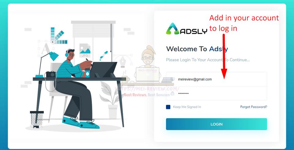 Adsly-demo-1-login